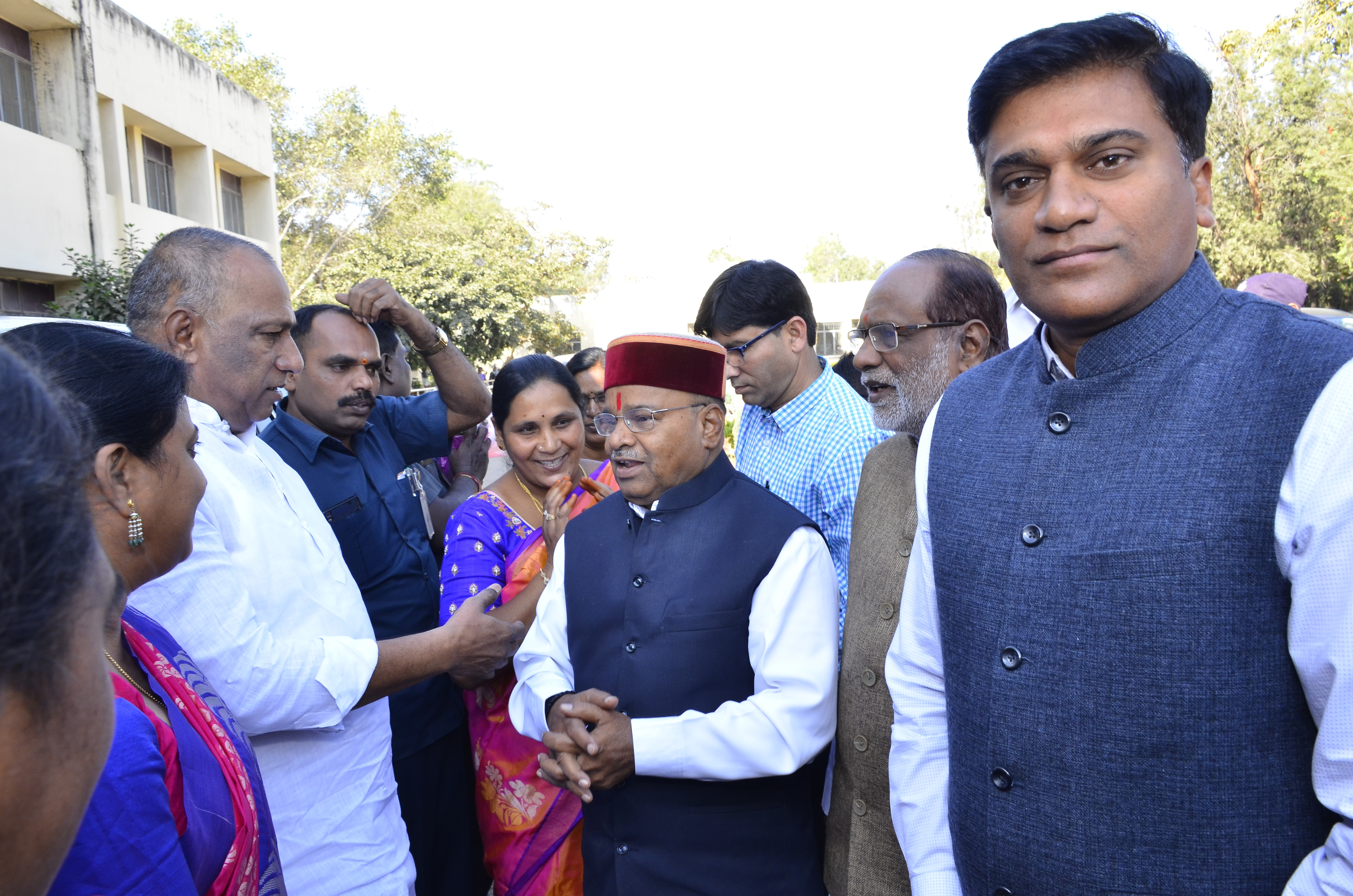 Visit of Shri.Thaawarchand Gehlot_four_size photo